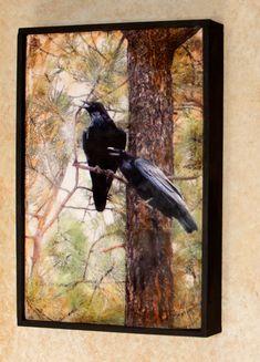 Encaustic photography  Ravens original by EncausticsbyGretchen