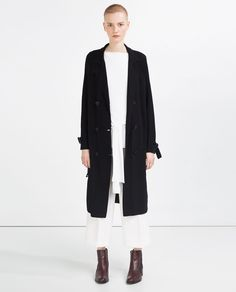 Image 1 of CONTRAST TRENCH COAT from Zara