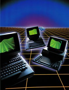 The Technology Report. Thinking Of Getting A Laptop? A good quality laptop computer will give you all of the mobile computing power you need, and is unmatched by lesser devices. With a great laptop, you will 80s Aesthetic, Aesthetic Japan, Light Grid, Mobile Computing, Old Computers, Retro Waves, Retro Futuristic, Airbrush Art, Science Fiction Art