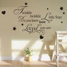 Removable Twinkle Star Wall Sticker Vinyl Decals For Nursery Baby Kid Room Decor