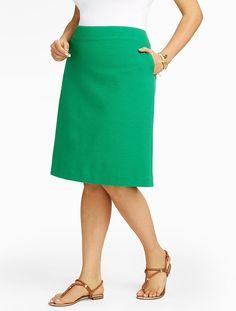 Talbots - Ottoman-Knit A-Line Skirt | |