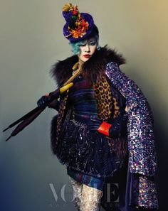 The Terrier and Lobster: Senior Style: Anna Piaggi, Lynn Yaeger, and Iris Apfel Impersonators by Hyea W. Kang for Vogue Korea October 2012