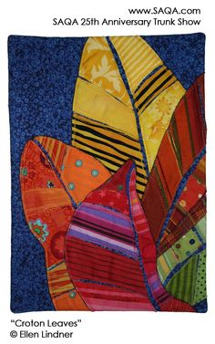 Art quilt by Ellen Lindner #artquilts #SAQA