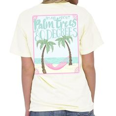 Southern Girl Prep Palm Trees And 80 Degrees Tee Cream