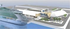 Rendering of the new Quantum of the Seas cruise terminal at Cape Liberty