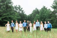 #Woodland / #bohemian inspired Wedding Party in #whimsical field in Nova Scotia! #love #wedding #bridal #bouquet #forest #whitedresses #bridesmaid #beautiful #flowers #cute #couple