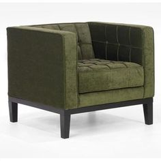 Armen Living - Roxbury Chenille Tufted Arm Chair at $660.00. Cool mod style chair