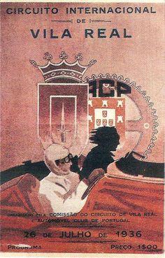Cartaz do Circuito Internacional de Vila Real de 1936