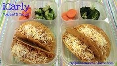 My Epicurean Adventures: Thanks, iCarly for the laughs... and spaghetti tacos! And @Kelly Lester / EasyLunchboxes aren't just for eating food on-the-go, they're great for eating messy foods at home, too! :)
