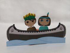 indiaan kano kleurplaat - Google zoeken