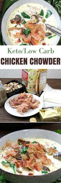 Keto Instant Pot Chicken Bacon Chowder   http://5dinners1hour.com/keto-instant-pot-chicken-bacon-chowder/