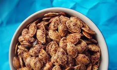 Roasted Cinnamon Pumpkin Seeds – A Healthy Holiday Treat!