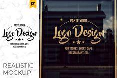 Storefront / Window Logo Mockup by Riopurba on Creative Market