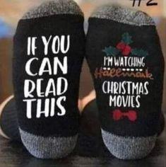 Hallmark Christmas Movie Watching Socks