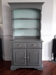 Sold Vintage Solid Maple Buffet With Hutch