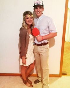 Jenny and Forrest Halloween costume!