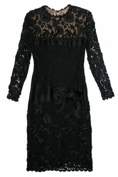 96227e508b Vintage Bill Blass Lace and Rose Dress from the 1980 s