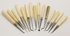 Set of 15 Ivory Handled Dental Instruments