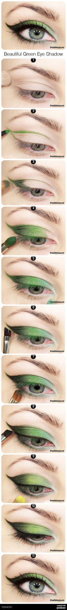 Beautiful Green Eye Shadow via pindemy.com