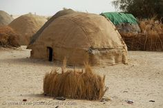 Africa | Traditional dwelling of Tuareg people, Mali