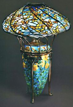 Tiffany Stained Glass, Stained Glass Lamps, Tiffany Glass, Leaded Glass, Mosaic Glass, Antique Lamps, Vintage Lamps, Vintage Lighting, Chandelier Lamp
