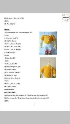 PALYAÇO Amigurumi For Beginners, Crochet Disney, Amigurumi Doll, Origami, Free Pattern, Crochet Patterns, Diy, Dolls, Kefir