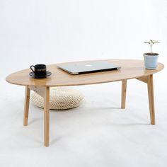 Modern Small Oval Bamboo Coffee Tea Table Folding Sofa Side Table Casual Tatami Desk Nordic Living Room Hotel Decoration #Affiliate
