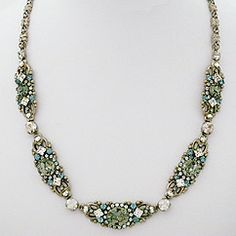 Sorrelli Jewelry Peweter Collection, necklaces for brides & evening wear. A sophisticated combination of crystals in a vintage silver setting.  Find your Sorrelli style at Perfect Details.