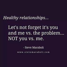 Not you vs me