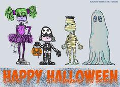 Halloween children look