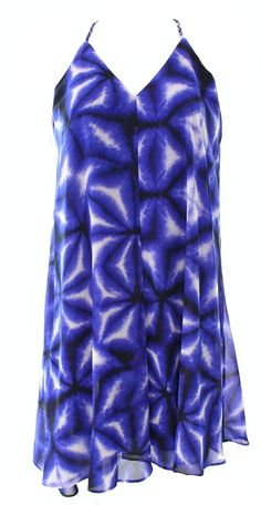 Calvin Klein Racerback Printed Women's Petite Shift Dress @014 Blue 10P. Size Type: Petites. Lined: Yes. Sleeve Style: Sleeveless. Occasion: Casual. Style: Shift | Dress Length: Above Knee, Mini | Material: 100% Polyester | Zipper: None.