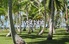Bucket list: visit tahiti