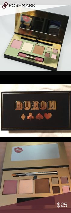 Buxom high roller palette Buxom High roller palette missing lip gloss will include (2) brush applicator other then that this palette has  never been used buxom Makeup Bronzer