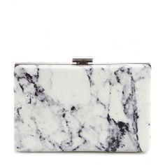 Balenciaga Printed Leather Box Clutch (8 400 SEK) ❤ liked on Polyvore featuring bags, handbags, clutches, white, white handbags, white box clutch, leather box clutch, balenciaga handbags and white clutches