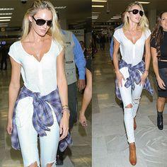 Love the white shirt.