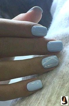 25 Perfect Winter Nail Designs To Make You Feel Warm Trend Nails For Winter Nail Designs Winter Nails Glitter Nails Nail Art Nails Acrylic Nail Sumcoco Cute Acrylic Nails, Acrylic Nail Designs, Nail Art Designs, Nails Design, Blue Gel Nails, Shellac Nail Designs, Light Blue Nails, Nail Art Blue, Baby Blue Nails
