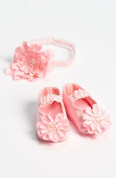 PLH Bows & Laces Headband & Crib Shoes (Baby) available at #Nordstrom