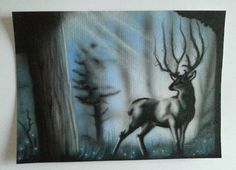 Postcard Airbrush Art, Moose Art, Animals, Animales, Animaux, Animal, Animais