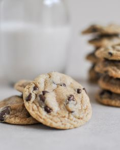 Mini Whole Wheat Chocolate Chip Cookies