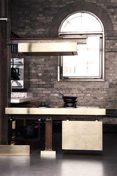 what wilson wants...: ( industrial brass kitchen )