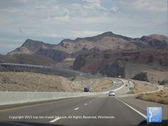 Gorgeous mountain views on the drive from Flagstaff, AZ to Las Vegas, NV #travel #roadtrip #Nevada #mountains #scenicview