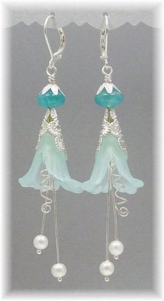 Pretty drop earrings