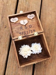 Ring Bearer Box  Shabby Chic Rustic Wedding by CountryBarnBabe, $30.00