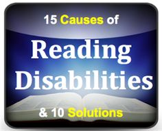 Reading Disabilities: 15 Causes and 10 Solutions | Minds in Bloom...Dr. Erica Warren to Minds in Bloom. This post is a must-read for any teacher (or parent) who teaches reading or works with struggling readers. ...what can we do to help these struggling readers?  First, we can learn to recognize the common indicators so that students can be formally tested and diagnosed.  Second, we can learn about the remedial tools and resources that can help these students traverse and manage these…
