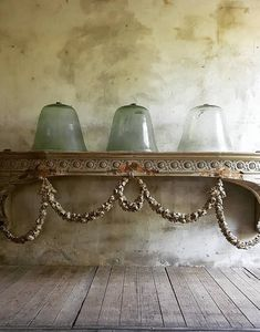 cloches and fabulous console table