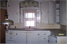 1930s kitchen. These are my 1939 original kitchen cabinets. I kept ...