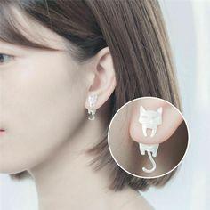 Ear Earrings, Silver Earrings, Silver Jewelry, Silver Necklaces, Silver Ring, Cat Jewelry, Jewelry Gifts, Women Jewelry, Ear Studs