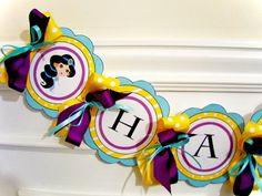 Princess Jasmine Printable Party Birthday DIY Banner via Etsy
