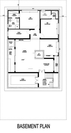 Contemporary House Design | By Monoline Architects – 1 Kanal House House Layout Plans, House Layouts, Architectural House Plans, Design Firms, Ground Floor, Architects, Architecture Design, Floor Plans, House Design