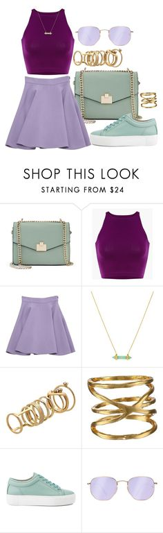 """""""Ziro the Hutt inspired"""" by beneath-the-starlight ❤ liked on Polyvore featuring Jennifer Lopez, Miu Miu, Louise et Cie, Lipsy, Gorjana and Ray-Ban"""